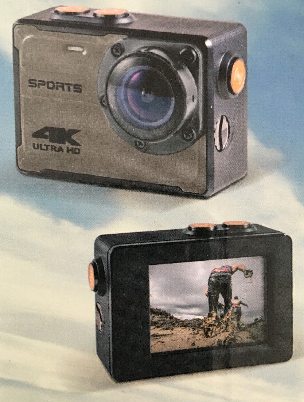 "4K Sports Action Camera, Ultra HD, 3840 X 2160 With 2"" LCD Screen, 8 MegaPixels action lcd megapixels sports ultra with"
