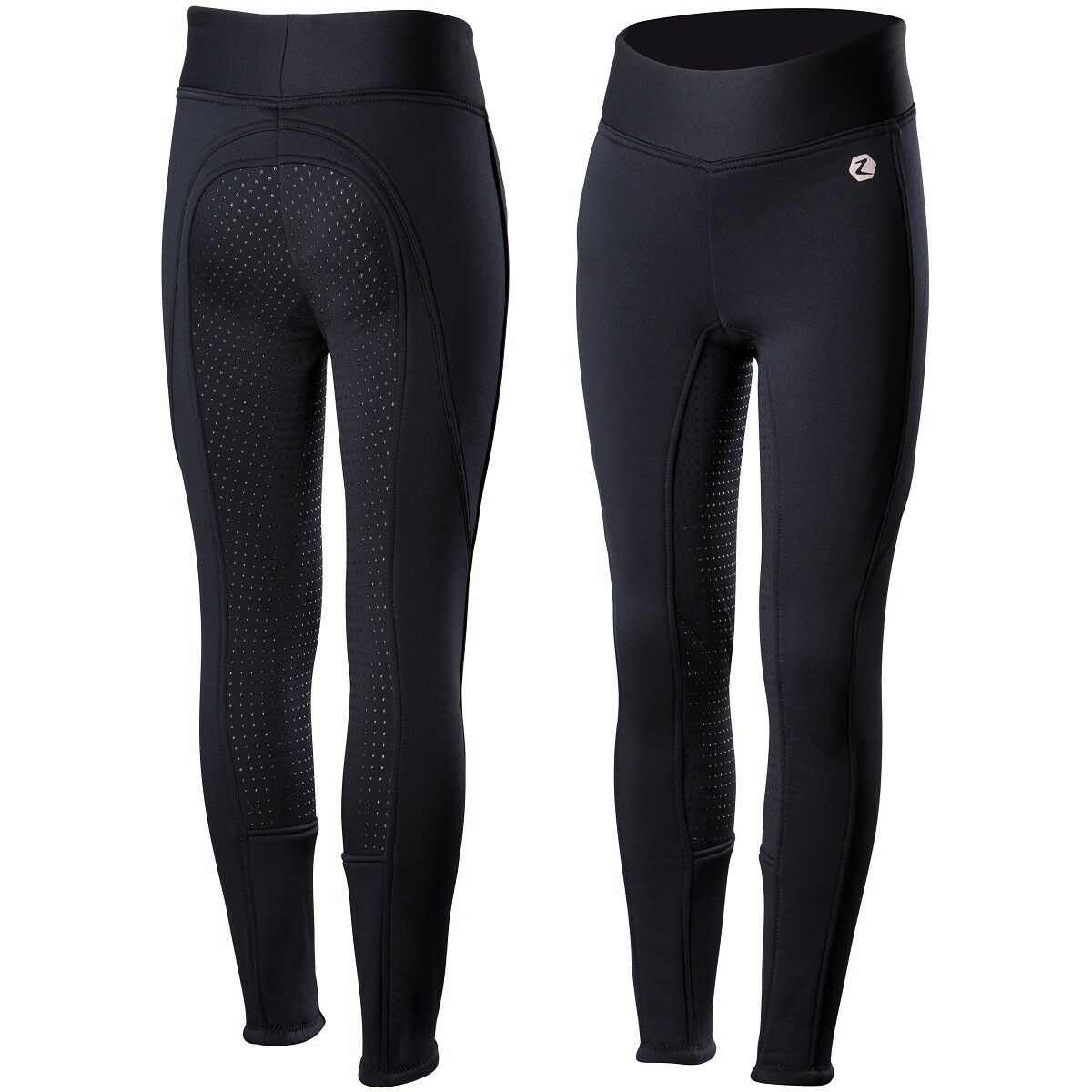 Horze Junior Active Navy bluee Silicone Grip Full Seat English Breeches SALE