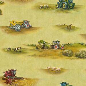 Rasch-Tracteur-Papier-Peint-293203-Neuf-Decoration-Chambre-Enfant