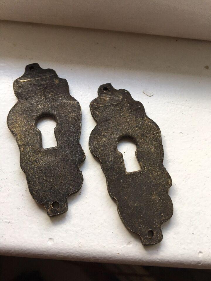 Fedt antik træ dørhåndtag/-greb, 1700-1800-tallet