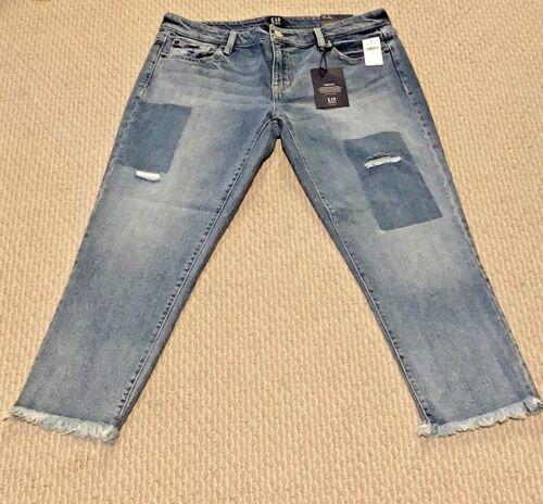 Nwt 28 patch fidanzata 30 afflitti o bordo grezzo a donna da Gap Jeans 27 da 25 26 con 29 YPZxgnAwq