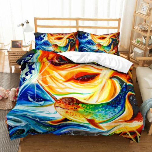 3D Customized Unicorn Bedding Set Duvet Cover Pillowcase Anime Quilt Cover Set