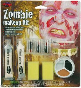 Ausdrucksvoll Halloween Zombie Spezialeffekte Make-up Gesichtsbemalung Kostüm Set 100% Original
