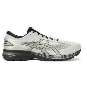 ASICS Men's Gel-Kayano 25 (Extra Wide) Glacier Grey/Black Running Shoes 1011A...