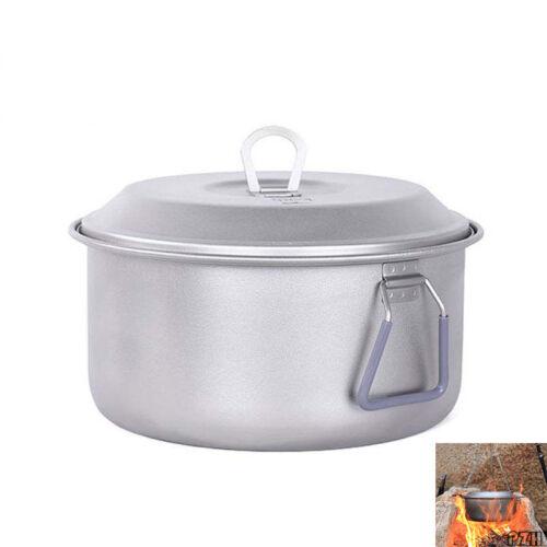 Keith Titanium Camping Hiking Cookware Campfire Cooking 2.5L Pot Pan 350g KP6018