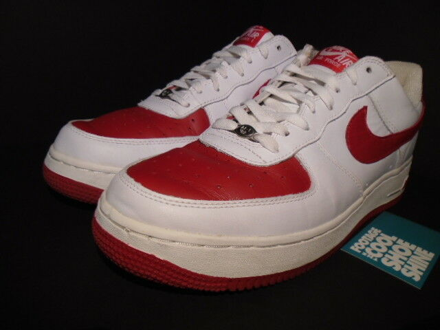 Details about 2003 Nike Air Force 1 Low WHITE VARSITY RED VALENTINE'S DAY 306353 161 11