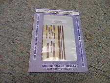Microscale decals N 60-821 Lackawanna DLW passenger unit stripes E F etc   D43