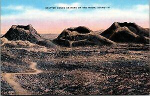 Vintage 1930's Spatter Cones Craters of the Moon in Idaho ID Postcard