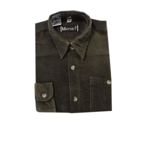 Sandsoil Hemden Cordhemd langarm 100/% Baumwolle Kinder Jungen Gr.92,98,104