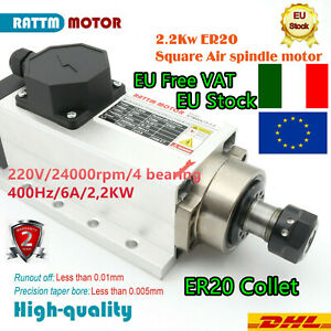 Italy-2-2KW-Square-Air-Cooled-Spindle-Motor-ER20-24000rpm-400Hz-6-0A-CNC-Router