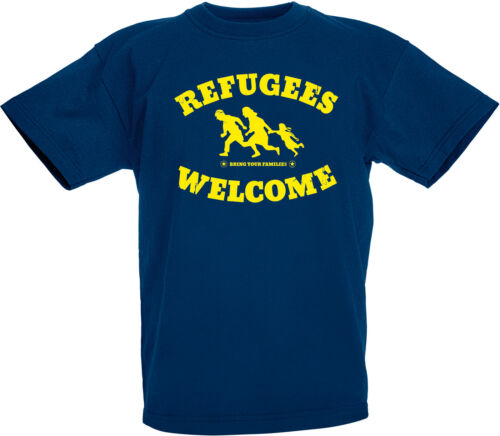 Refugees welcome enfants-t-shirt Navy