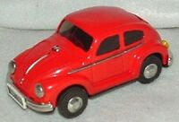 Volkswagen Beetle Tin Friction 5 Vw Bug Trademark Antiq 70's - 80's In Box