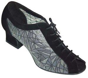 Salsa UK Sizes 3-8 Ladies Black or Silver Ballroom Jive Dance Shoes Latin