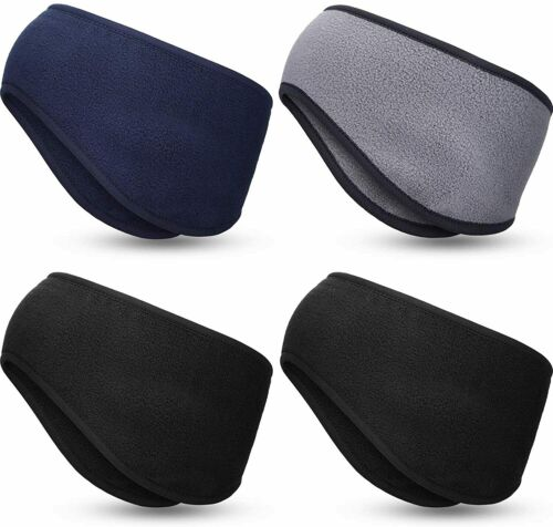 WILLBOND 4 Pieces Ear Warmer Headband Ear Muff Hair Band Full Cover Sports Headb
