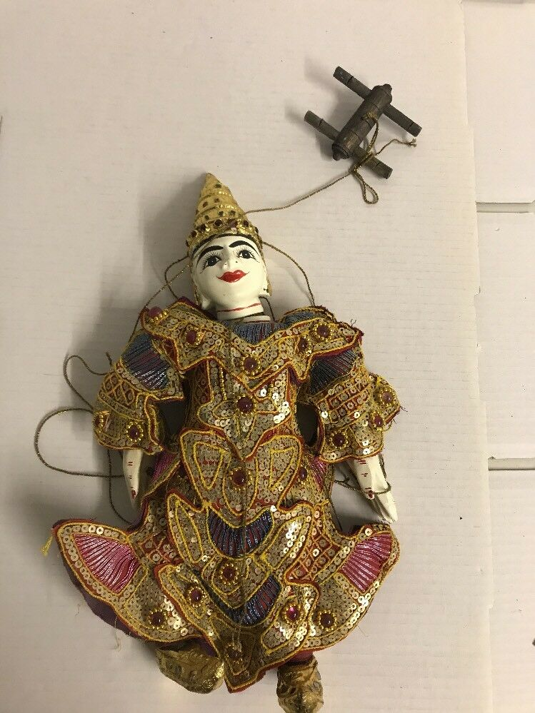 Antique Vintage Marionette Puppet   attic find