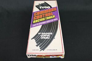 ZB348-Vintage-Tyco-Command-Control-Straight-Racing-Track-Sections-9-034-curve-rail