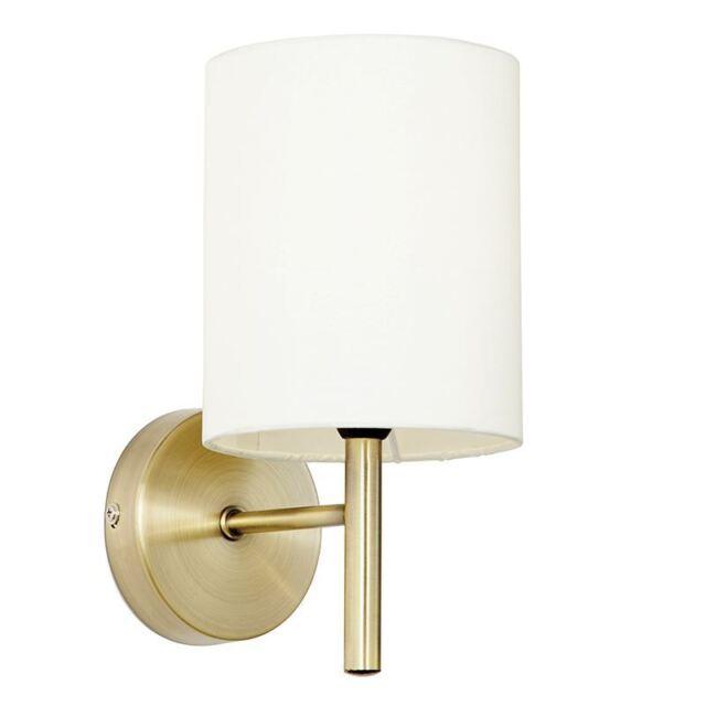 Endon Lighting Brio 1lt wall 40W - antique brass c - BRIO-1WBAB