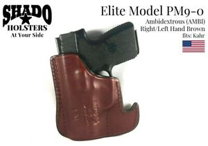 SHADO Leather Holster USA Elite Model PM9-0 AMBI Pocket Holster Brown Kahr Arms