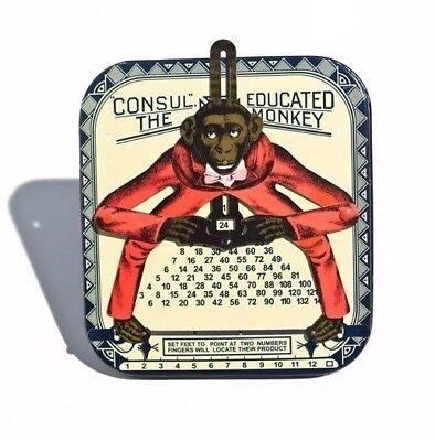 Rechenhilfe Den Menschen In Ihrem TäGlichen Leben Mehr Komfort Bringen 2xconsul Der Rechnende Affe historisches Blechspielzeug / Tin Toy