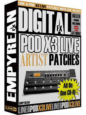 line 6 pod x3 live artist patches guitar multi effects presets ebay. Black Bedroom Furniture Sets. Home Design Ideas