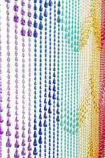 Rainbow Door Beads Doorway Beaded Curtain Panel Window Wall Divider Door Decor
