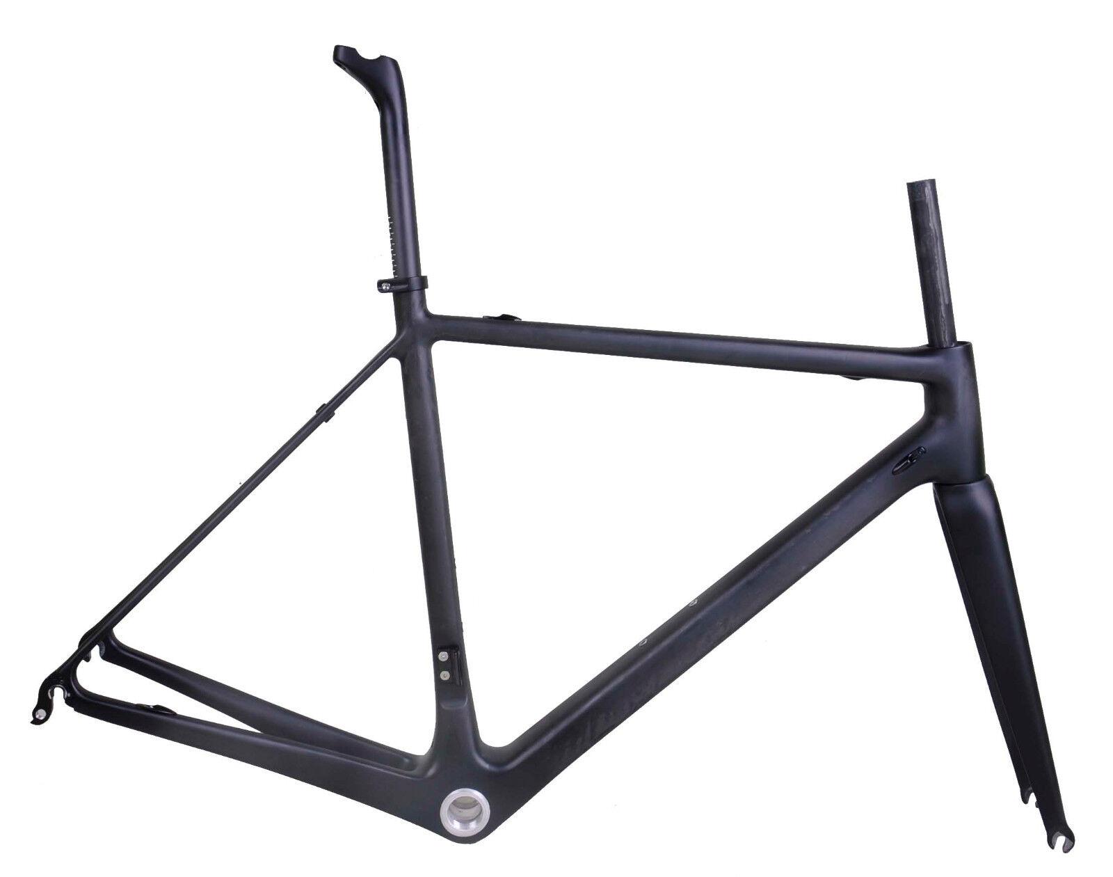 800 g 48 cm carbone PF30 Vélo de Route Cadre fourche Tige de selle Di2 UD MATT RACE Cycle 25 C