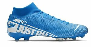Nike-Hommes-Cames-Football-Chaussures-Nike-Mercurial-Superfly-7-Academy-MG-bleu-clair