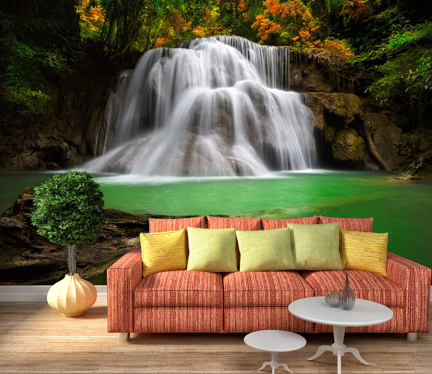 3D waterfall River water Wall Paper Print Decal Wall Deco Indoor wall Mural