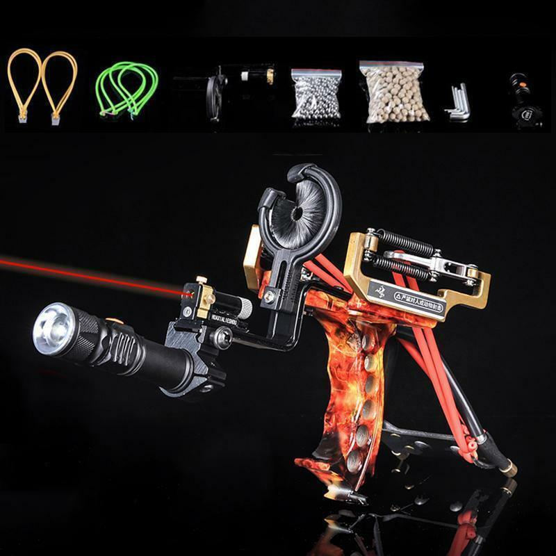 NEW PRO Powerful Hunting Fishing Slingshot Laser Catapult Archery Bow Arrow Rest