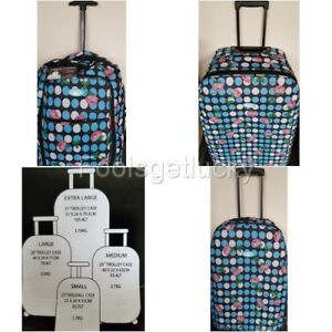 ROSE-SPOT-Suitcase-Cabin-Hold-Trolley-Hand-Luggage-2-Wheels-Under-Seat-On-Board