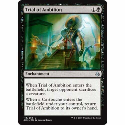 NM Card x 4 Playset Trial of Ambition MTG Amonkhet
