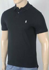 Polo Ralph Lauren Black Custom Slim Fit Stretch Mesh Short Sleeve Shirt NWT