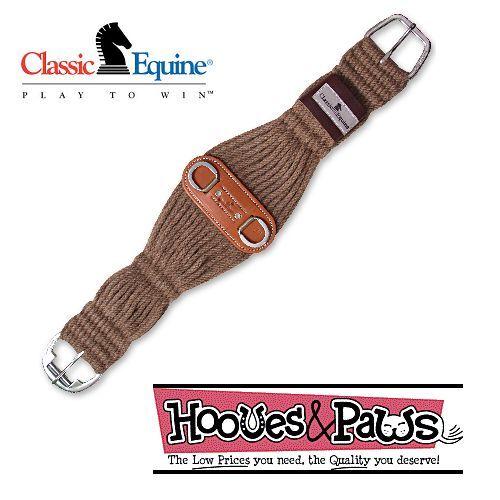 "Classic Equine à manches courtes rouleau boucle alpaga 34/"" Roper Cinch Circonférence Horse Tack"