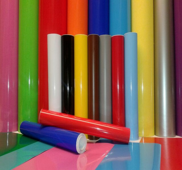1m ROLL or A4 SHT STICKY BACK PLASTIC SELF ADHESIVE SIGN VINYL