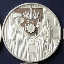 SILVER MEDAL 925/1000 THE SPOUSES ARNOLFINI - JAN VAN EYCK 1434