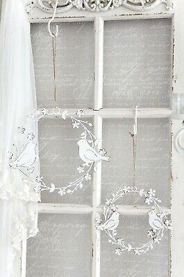 Fensterdekoration Metall Kranz Fensterhänger Vogel Anhänger Shabby Chic kl