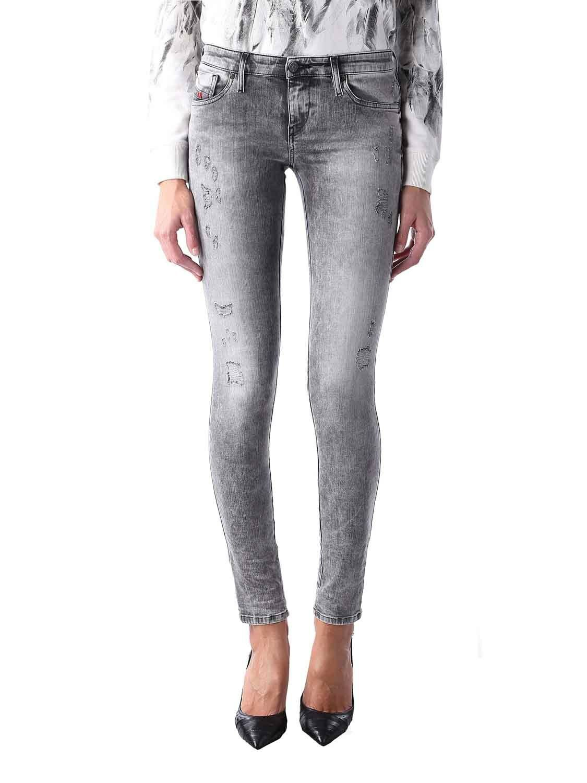 Diesel Skinzee-BK2 0854K Elasticizzato Jeans Pantaloni women Magro Magro
