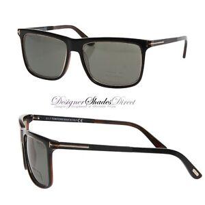 7d47c1e202f Tom Ford Sunglasses Matt Black Gold Rectangle Green Polarized KARLIE ...