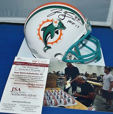 Dan Marino Miami Dolphins Signed Autograph Throwback Mini Helmet 97-12 JSA Witnessed Certified