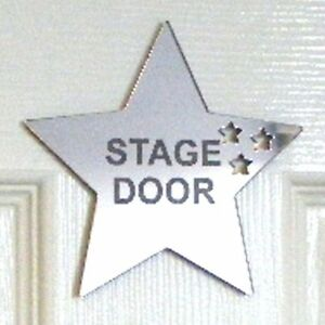 Personalised Star Door Sign Acrylic Mirror (Several Sizes Available)