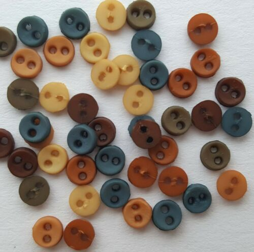 MICRO MINI Tiny Round Dress It Up Sewing Quilting Craft Buttons SOUTHWESTERN