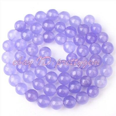 "FREE SHIPING 6MM ROUND LIGHT PURPLE JADE GEMSTONE BEADS STRAND 15""JEWELRY MAKING"