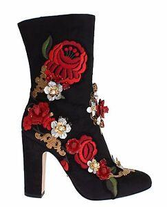 31b2ac4b5a278 Caricamento dell immagine in corso Nuovo-Dolce-amp-Gabbana-Scarpe-di -Cuoio-Rose-