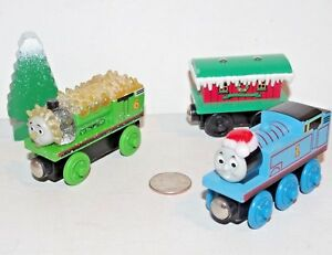 999f3d797 Details about Thomas Friends Wooden Railway Train Tank Engine Christmas  Jack Frost Percy Santa