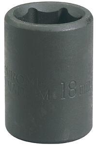 18mm Impact Socket 1//2dr-pckd