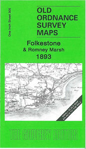 OLD ORDNANCE SURVEY MAP FOLKESTONE ROMNEY MARSH 1893 CHERITON DYMCHURCH HYTHE