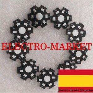 10 unids / lote 1 W 3 W 5 W alta potencia LED disipador PLACA Base de aluminio