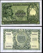 50 Lire 1951 Bolaffi - Cavallaro - Giovinco SPL
