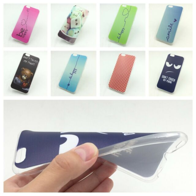 Phone Cover Case Protective Case Motif Slim Silicone TPU Shell Bumper Cases