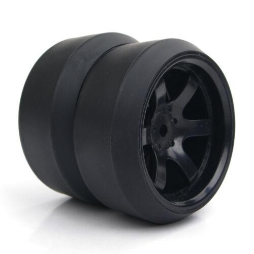 4Pcs 1:10 RC Drift Tire /&12mm Hex Wheel Rims For HPI HSP On-Road Car PP0072//370